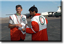 David at work with the Red Crescent in Bamm, Iran